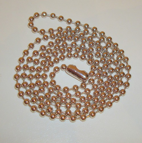 Bolletjesketting 2,5 mm. 70 cm.