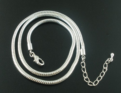 Sterling silverplated ketting 45 cm.