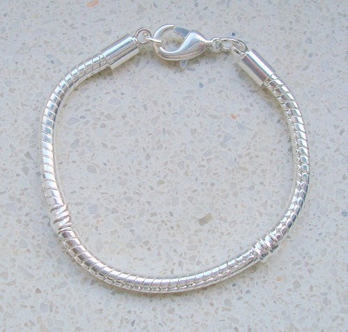 Sterling silverplated kinderarmband 13 cm.