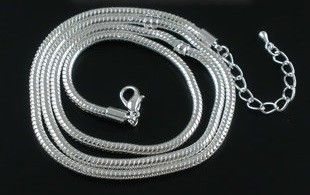 Sterling silverplated ketting 58 cm.
