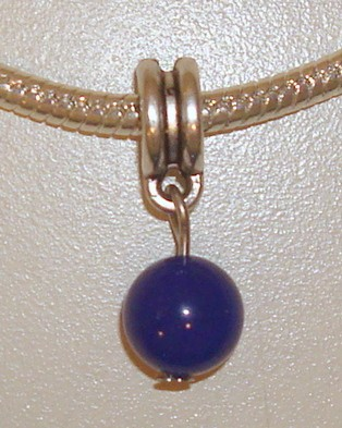 Dangle met blauwe jade