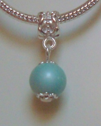 Dangle met turquoise natuursteen
