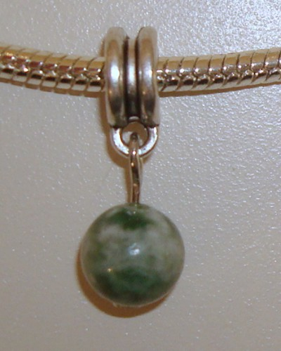 Dangle met natuursteen Green Spot Stone