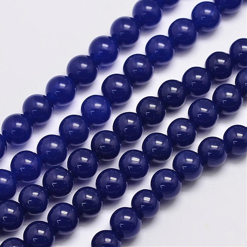 "Snoer jade ""Midnight Blue"" 8 mm."