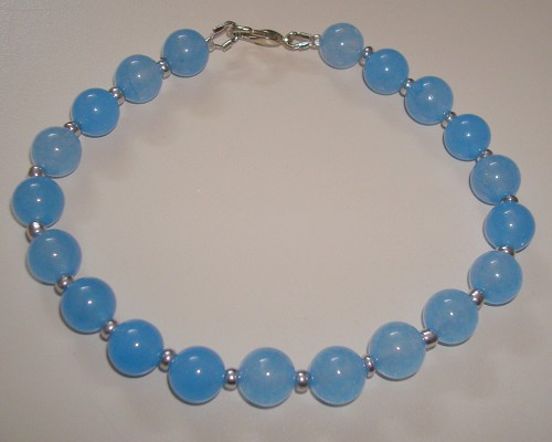Armband van jade Light Skyblue