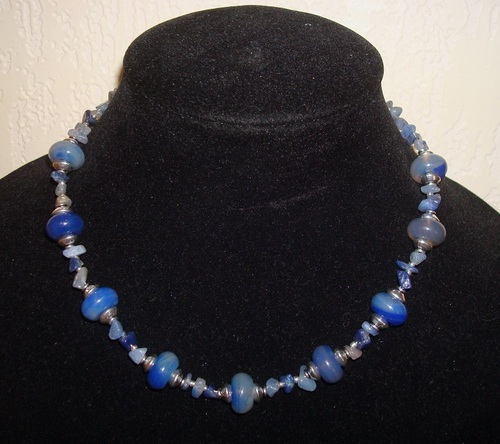 Collier van Blue Aventurine en agaat