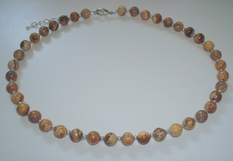 Collier van Picture Jasper