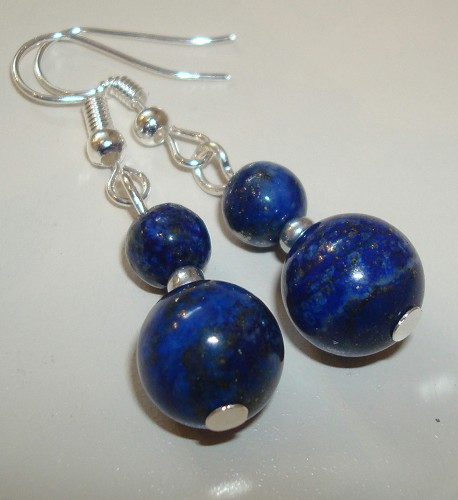 Sterling silverplated oorbellen met Lapis Lazuli