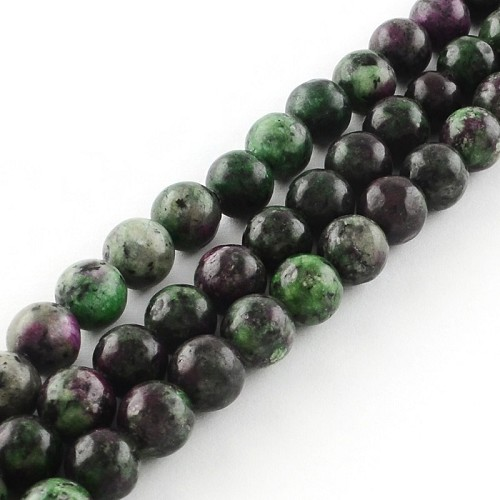 Snoer Ruby Zoisite 8 mm.