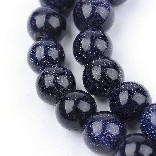 Snoer Blue Goldstone 8 mm.