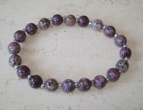Armband van Crazy agaat in aubergine mt 20