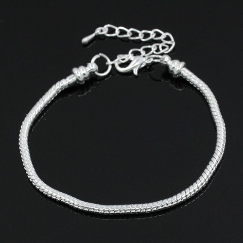 Sterling silverplated 20 cm. armband met stopper