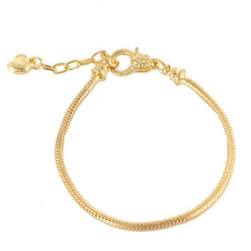 Goldplated armband met afschroefbare stopper maat 19