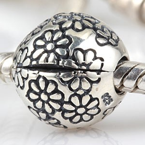 925 Sterling zilveren clip Laizy Daisy